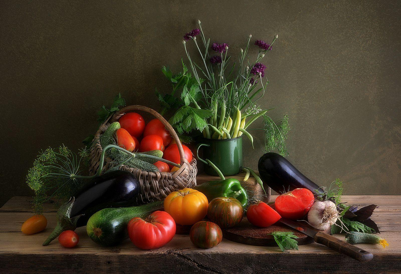 Натюрморт с овощами.(всё своё) Сергей Алексеев натюрморт