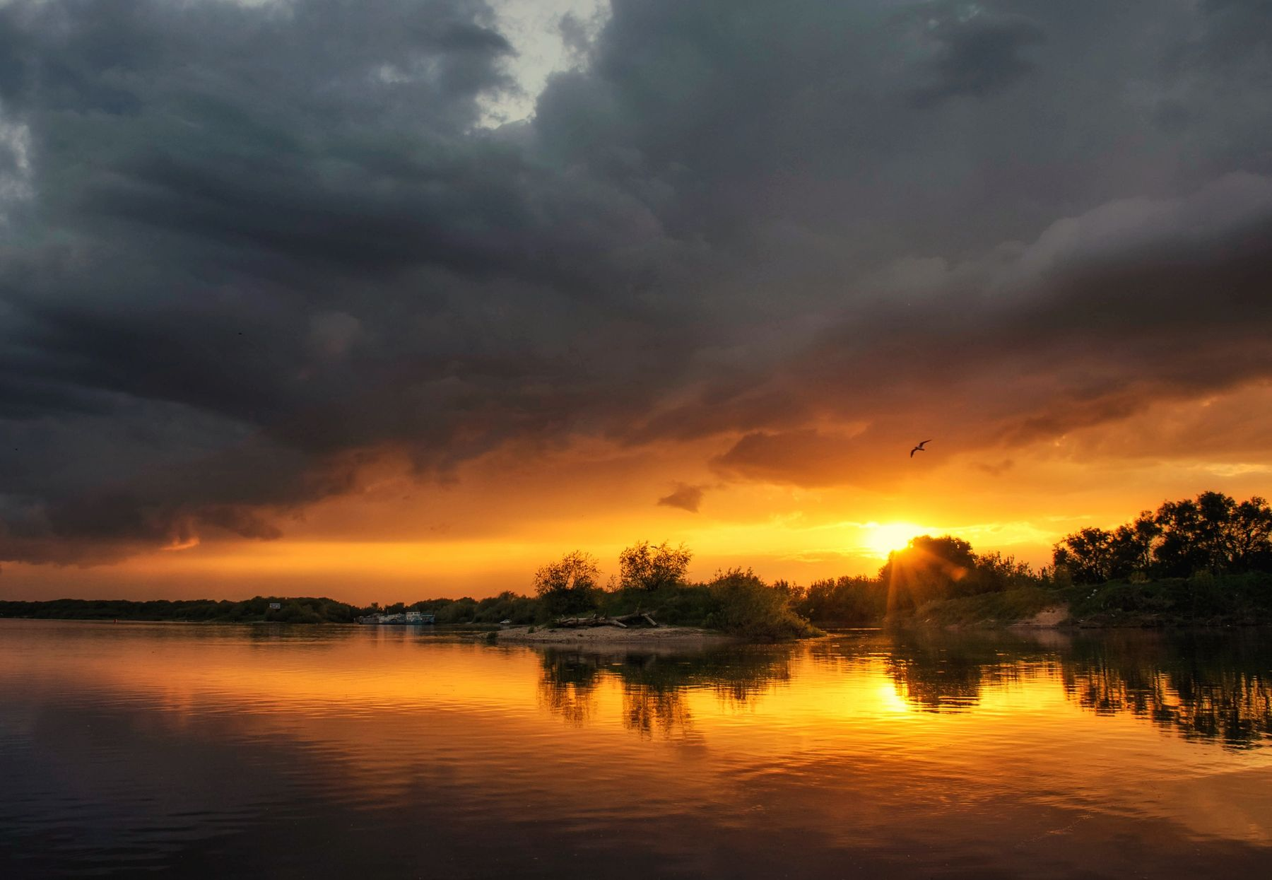 Вечер на Оке ... Ока река закат вечер