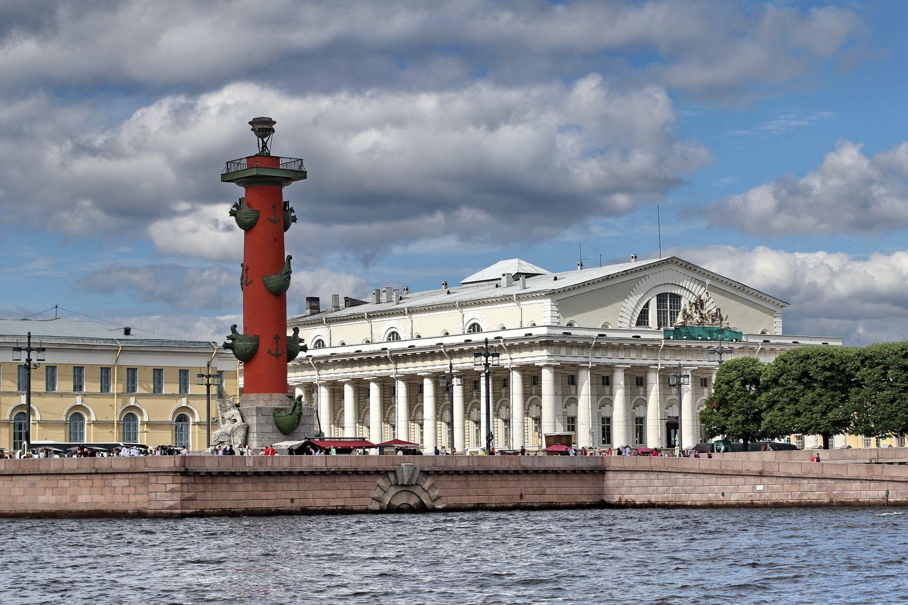 Здание биржи Санкт-Петербург биржа Нева город архитектура