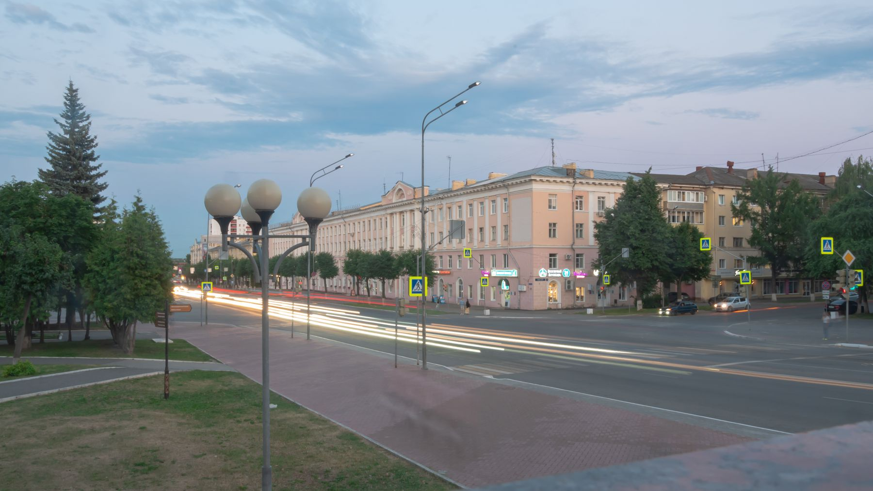 Вечереющий город Йошкар-Ола Город
