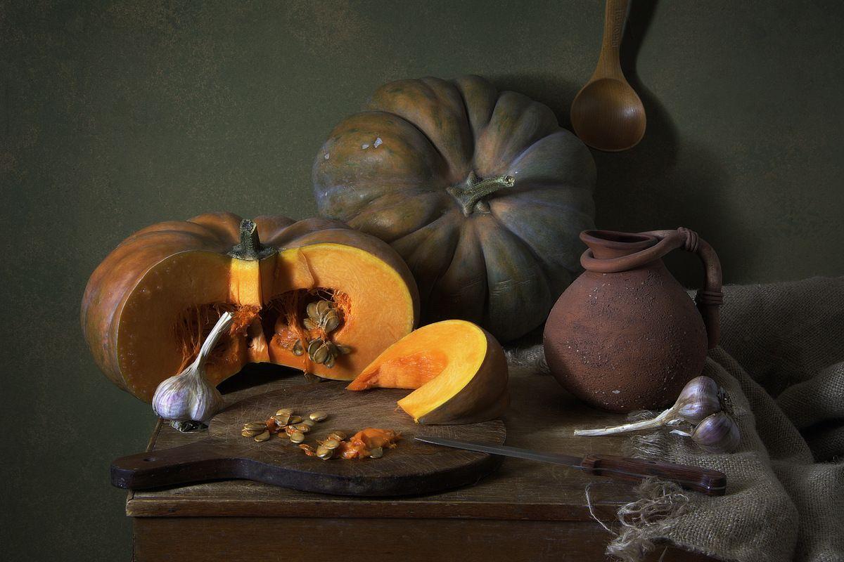 Сочная тыква художественное фото авторская фотография натюрморт