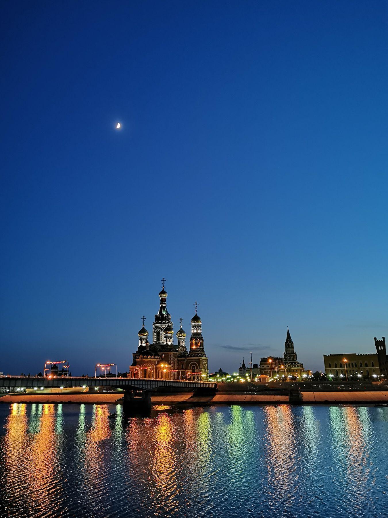 *** город вода отражение мост ночь