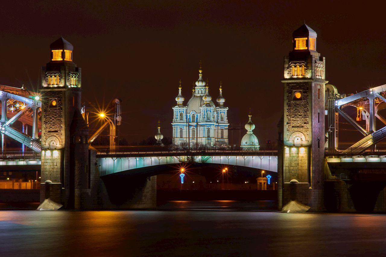 Мой любимый Большеохтинский Большеохтинский мост