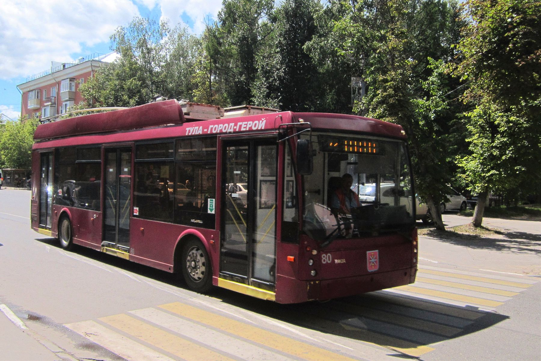 80 Тула троллейбус улица город лето