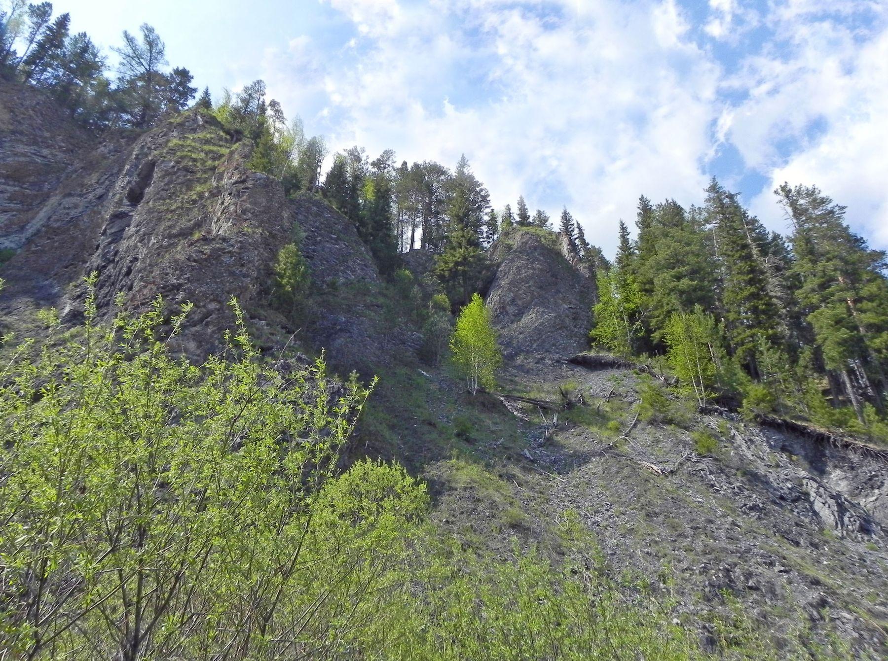 Скалы Сибирь лето горы скалы небо