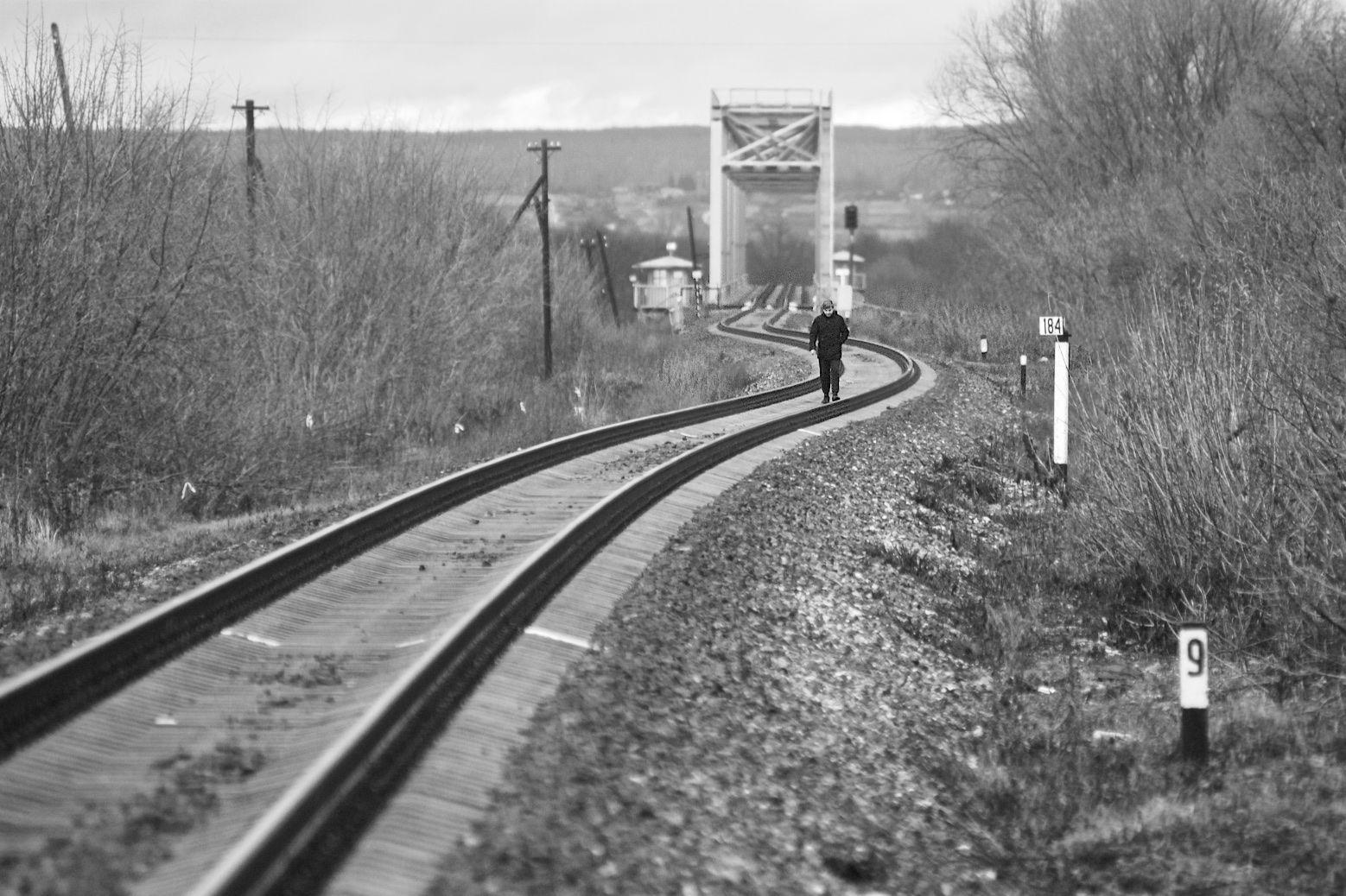 Дорога Окраина дорога путник железная