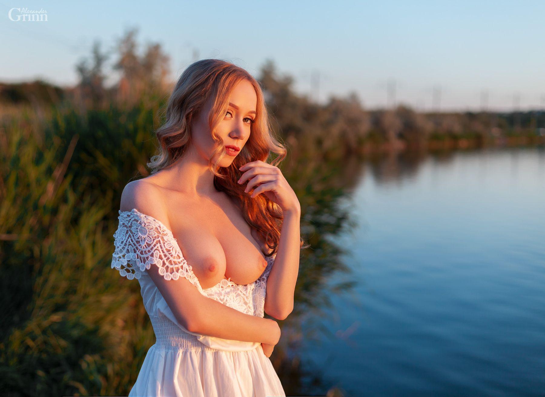 Sunset Sunset girl blonde nature