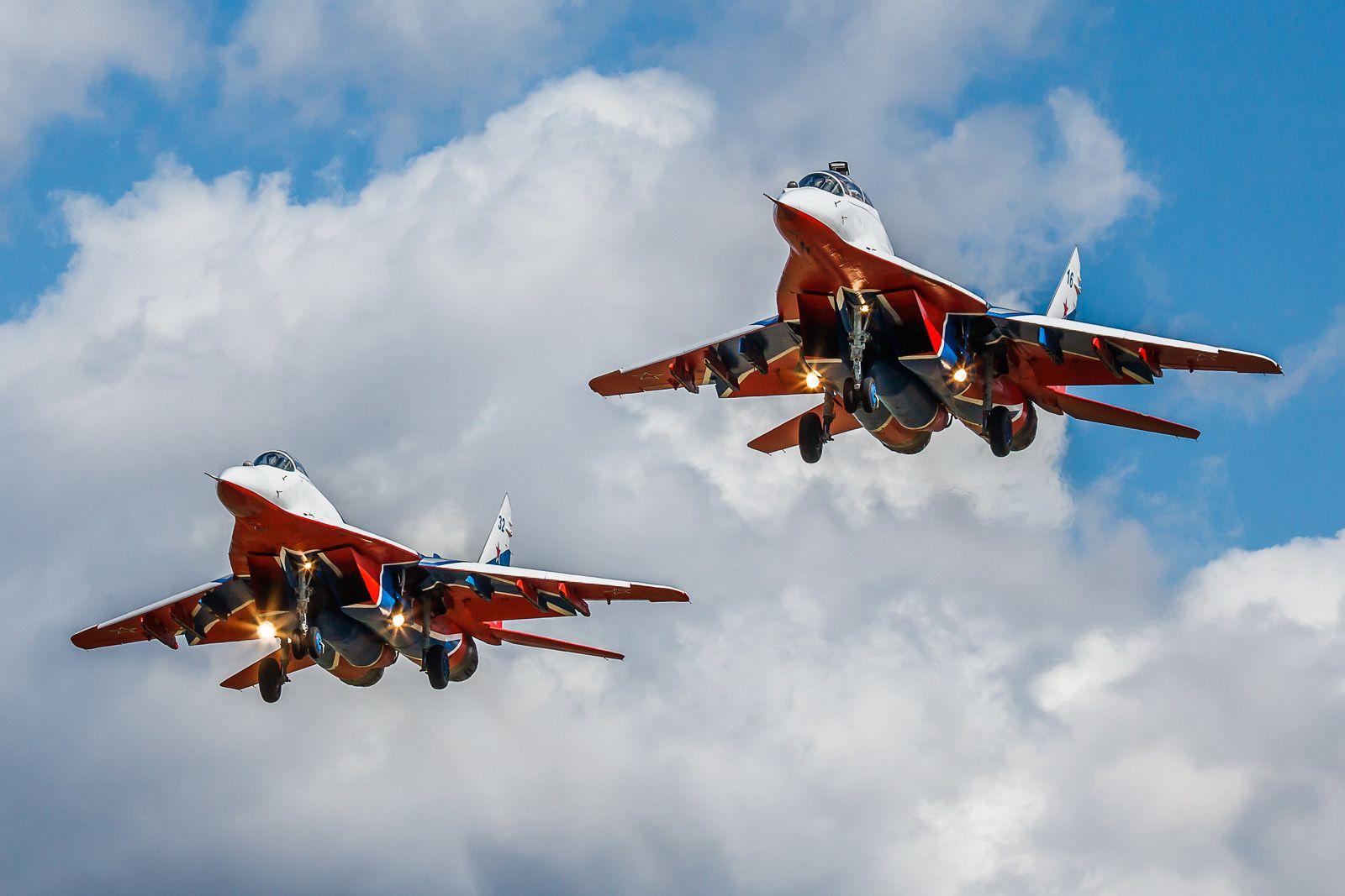 Стрижи авиабаза Кубинка МиГ-29 репетиция Парад