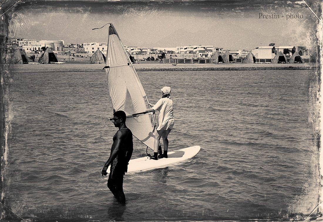 Когда море - по колено... море девушка парус серфинг африка ветер