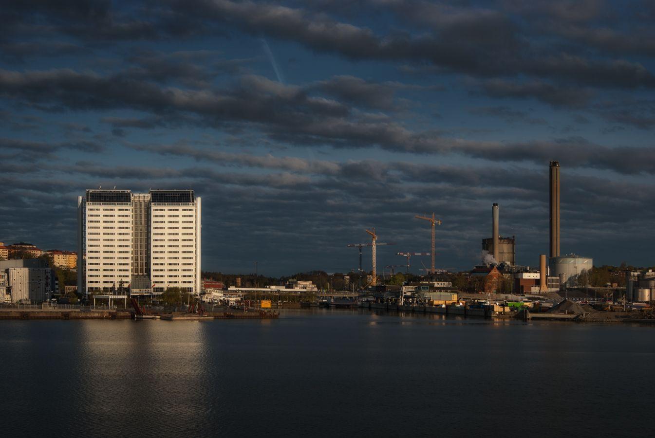 ***Вечер в порту Турку.Финляндия.