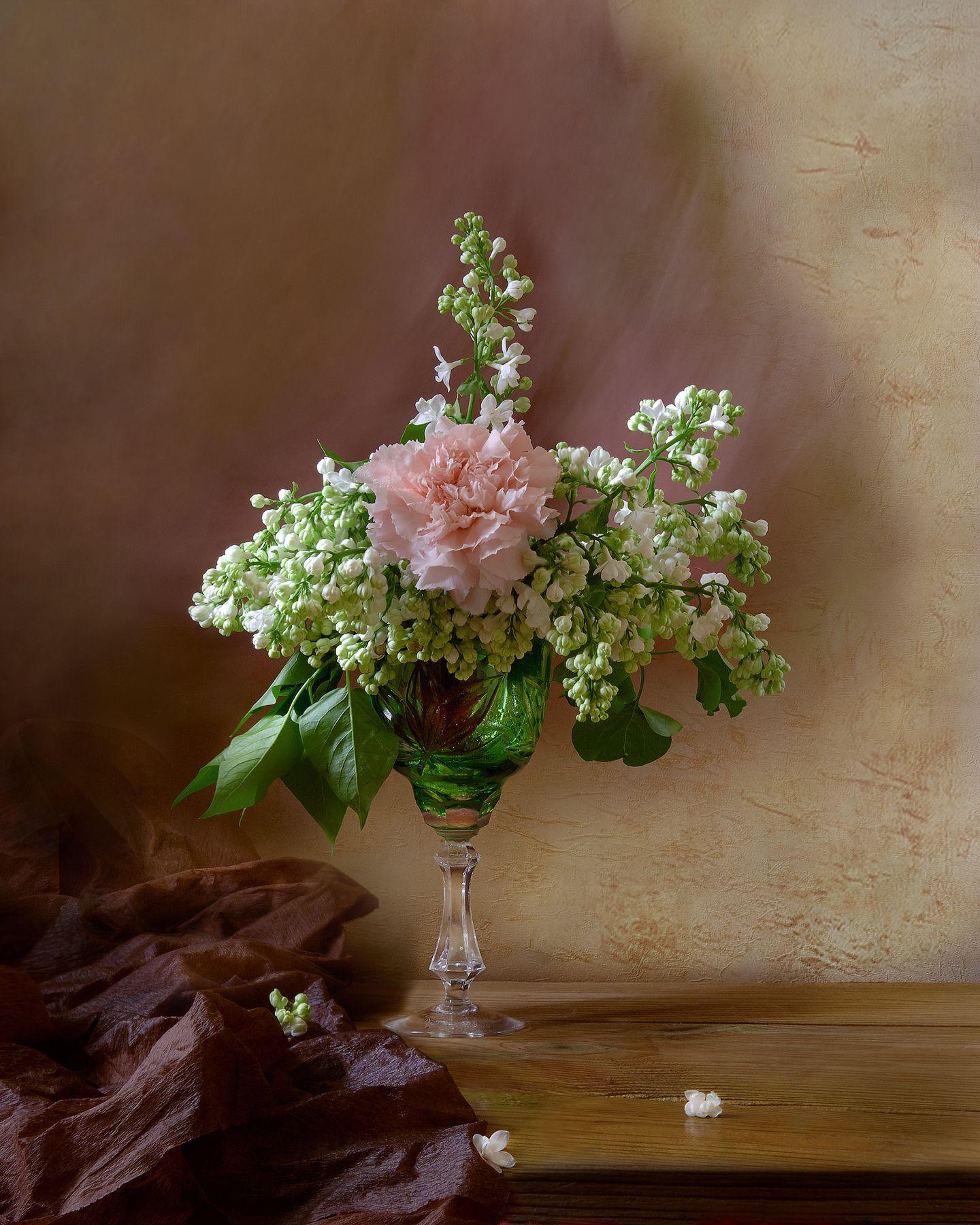 *** цветы натюрморт сирень