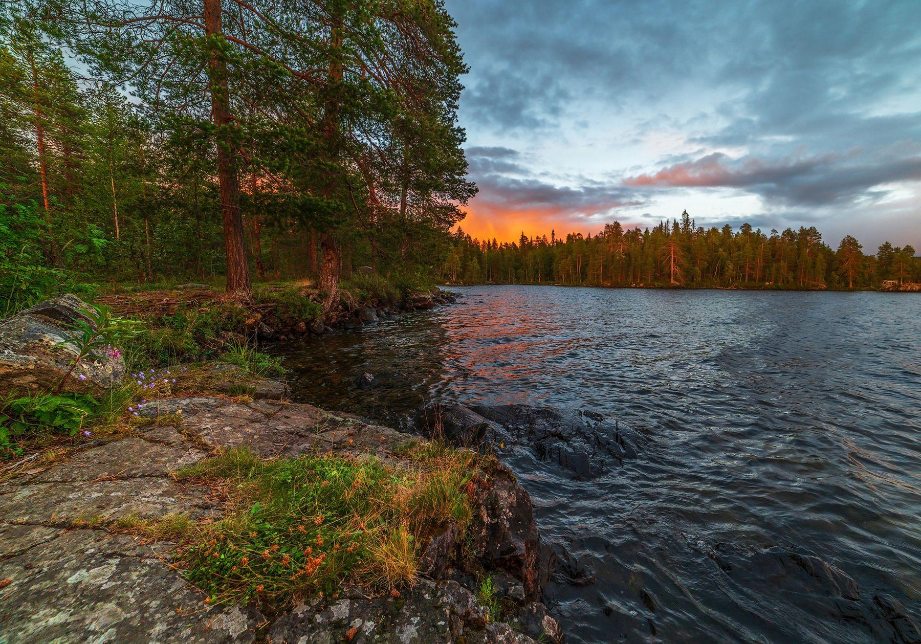 Карельский закат Карелия закат озеро