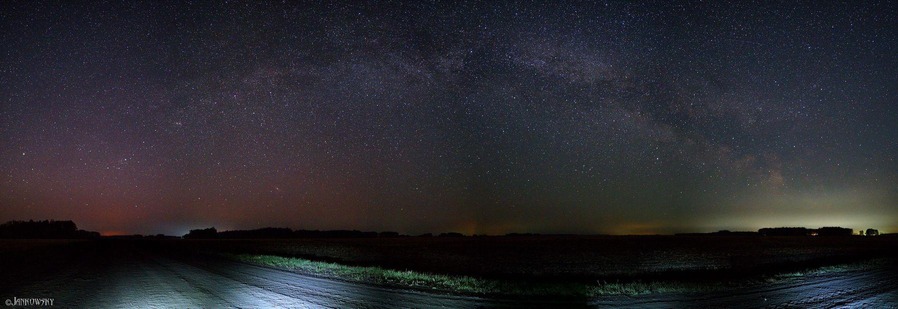 Восход Млечного пути. Омская область омск млечный путь milky way панорама астропейзаж поле звездное небо