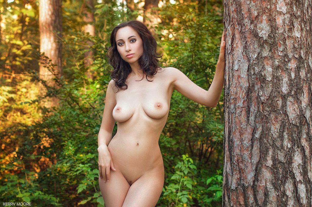 Anna девушка nu portrait ню эротика street nikon nature forest