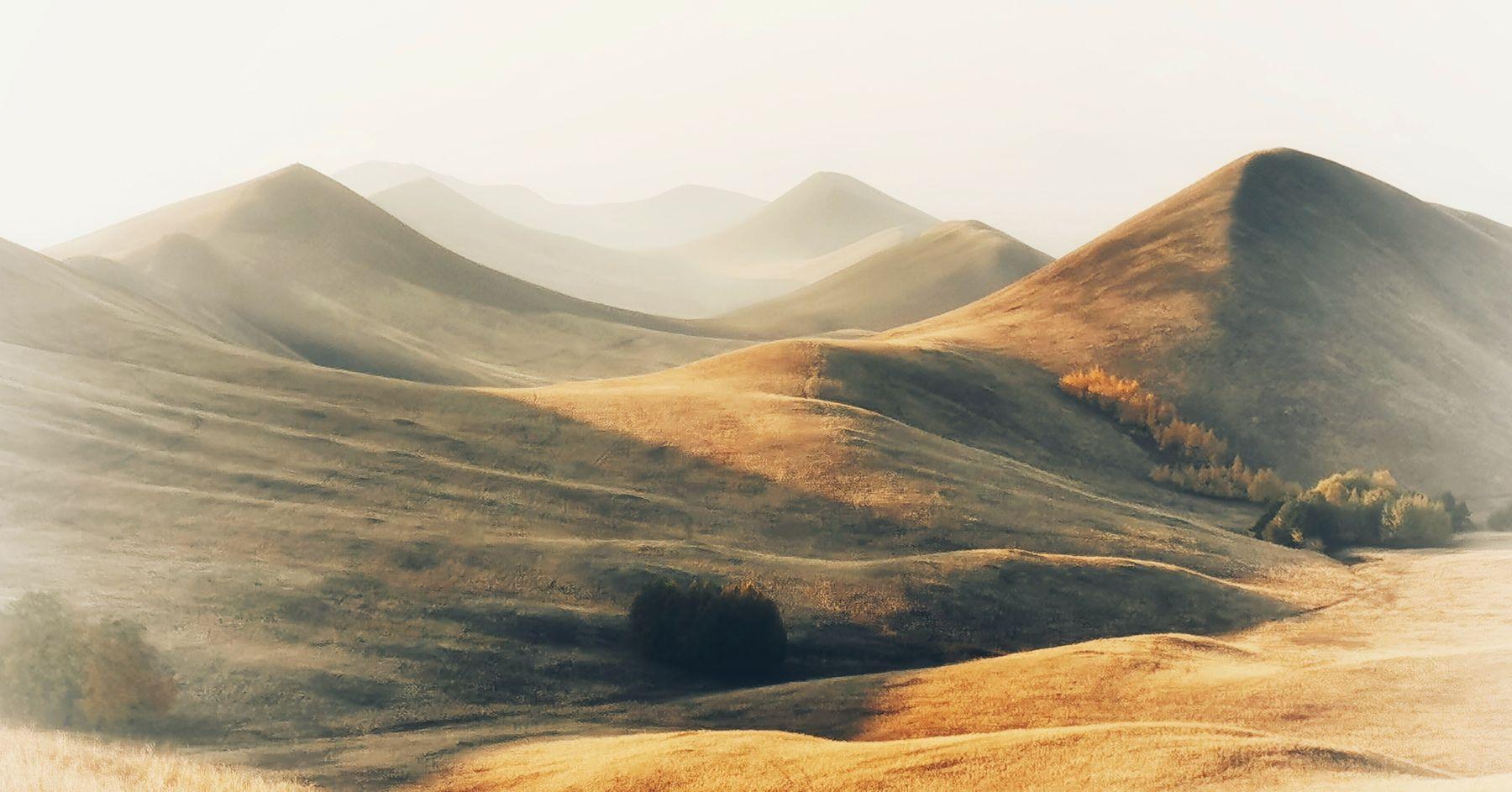 Mountain dreams Осень пейзаж природа утро рассвет