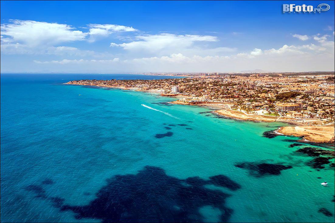 Аэро фотосъемка в Испании, побережье Коста Бланка испания аэрофотосъемка аэросъемка коста бланка торревьеха аликанте море пляж берег spain torrevieja alicante costa blanca valencia