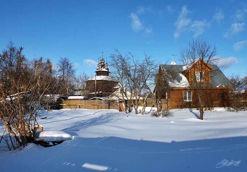 Снега ЦЕРКОВЬ СОБОРА БОГОРОДИЦЫ СЕЛА ХОЛМ Кострома
