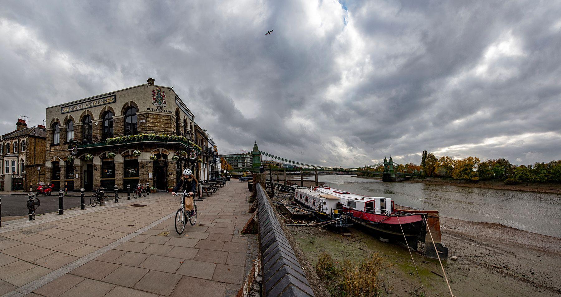 THAMES PATH Лондон Темза Thames_Path Путь_Темзы ПАБ THE_RUTLAND_ARMS