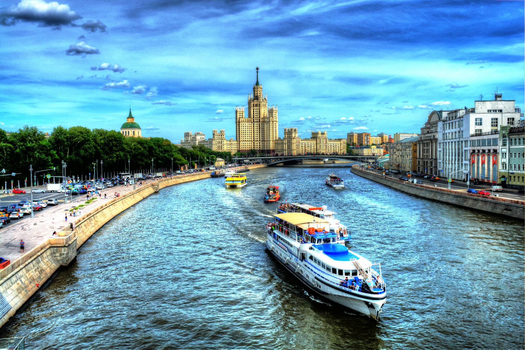 Навигация Москва река тепло город корабль корабли водка пиво