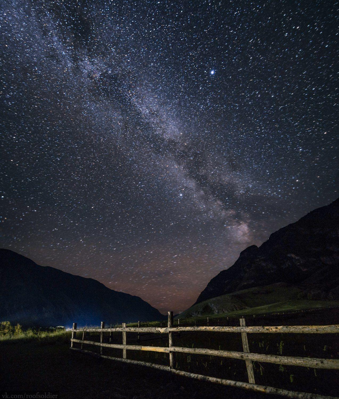 Ночь на Алтае Алтай пейзаж Россия природа звёзды млечный путь ночь ночной небо звёздное