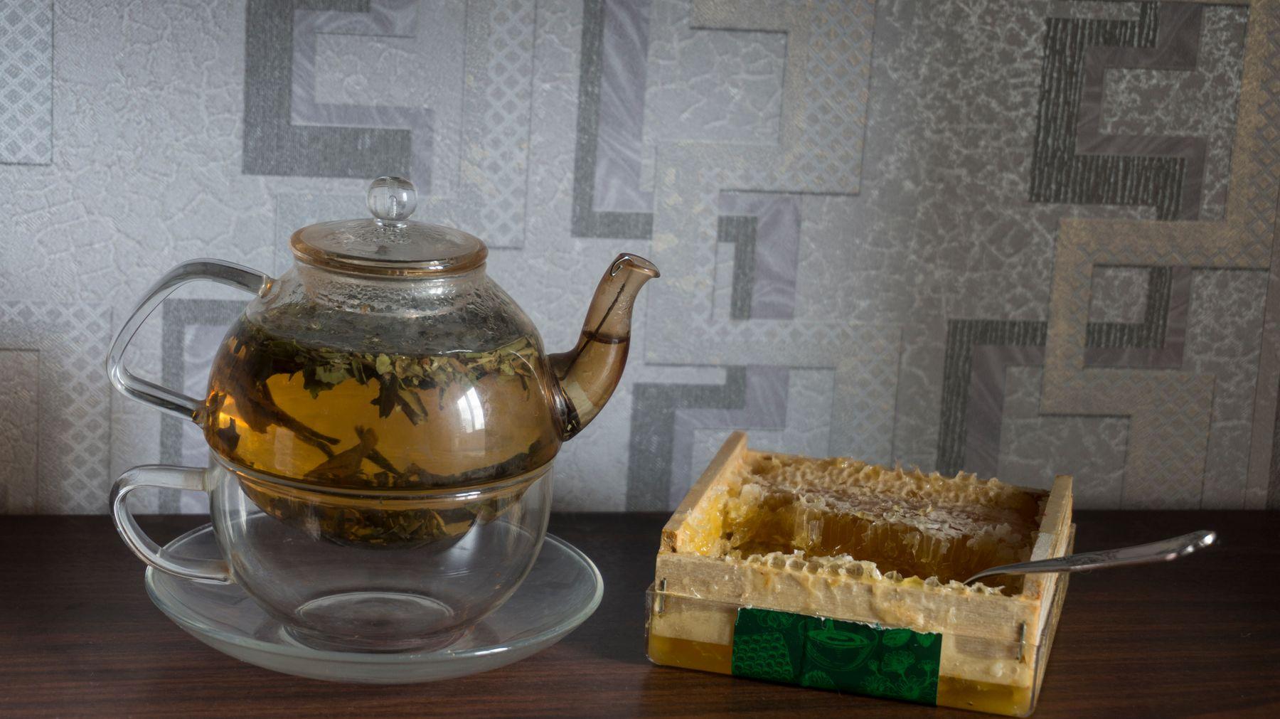 Белый чай чай мёд чаепитие