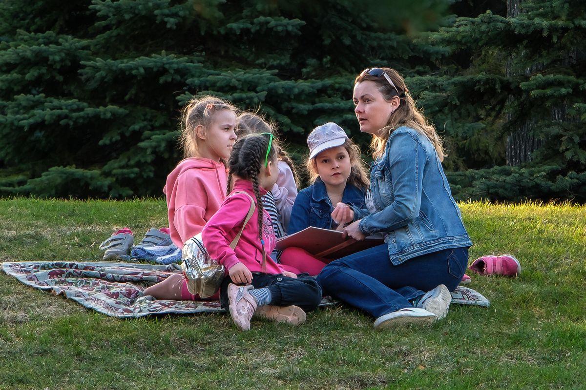 Вечерняя сказка вечер полянка дети учительница