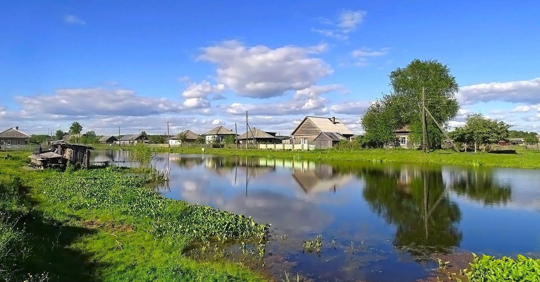 Сибирское  деревенское лето Сибирь лето село пейзаж