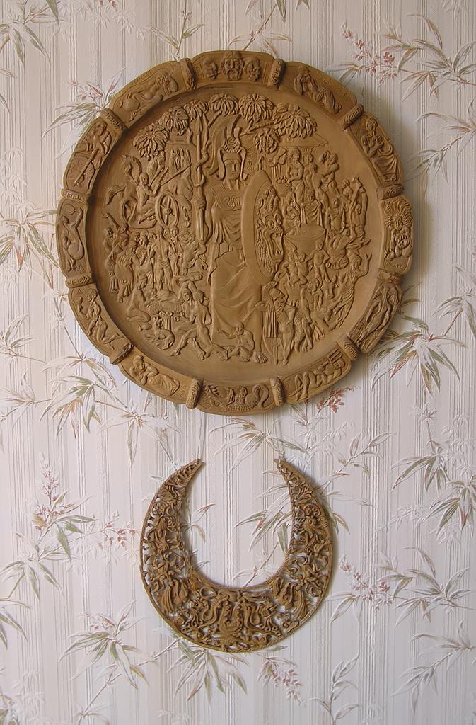 Тарелка и колье украшение