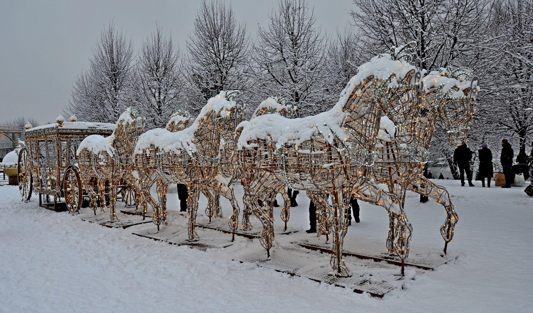 Царицыно прошедшей зимой