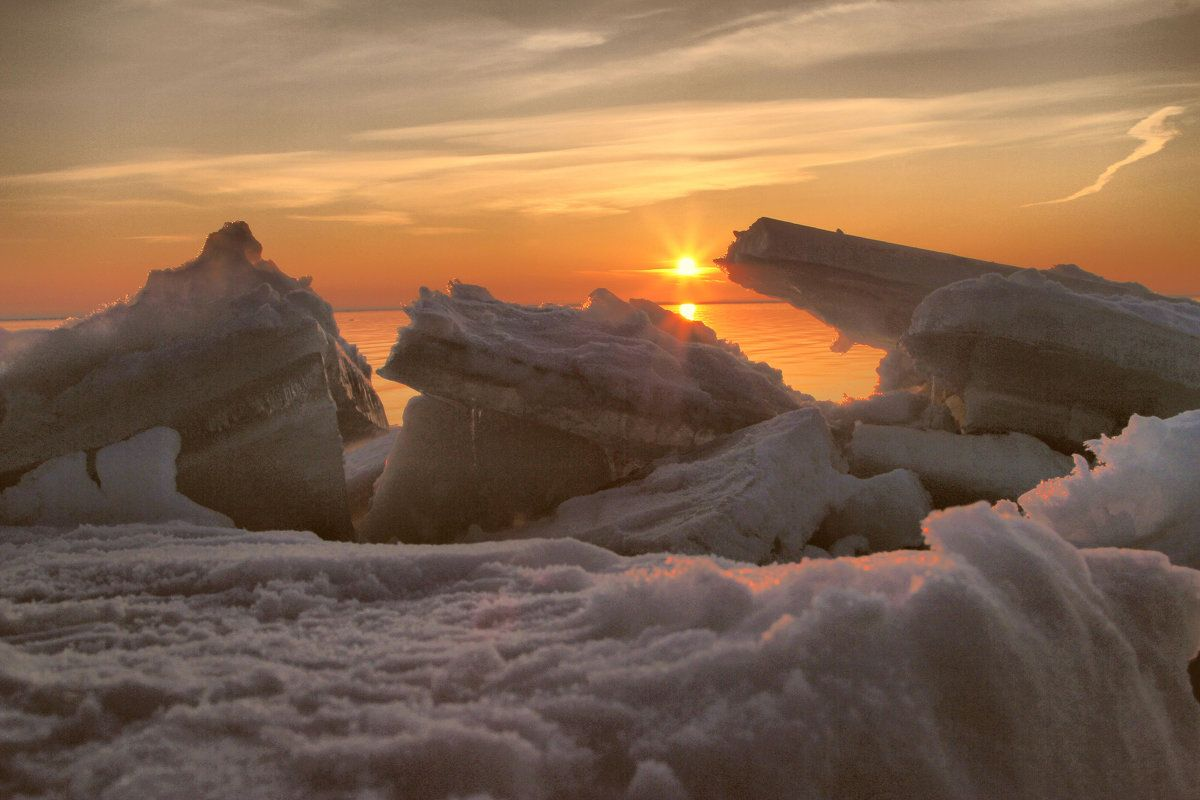Льды Финский залив