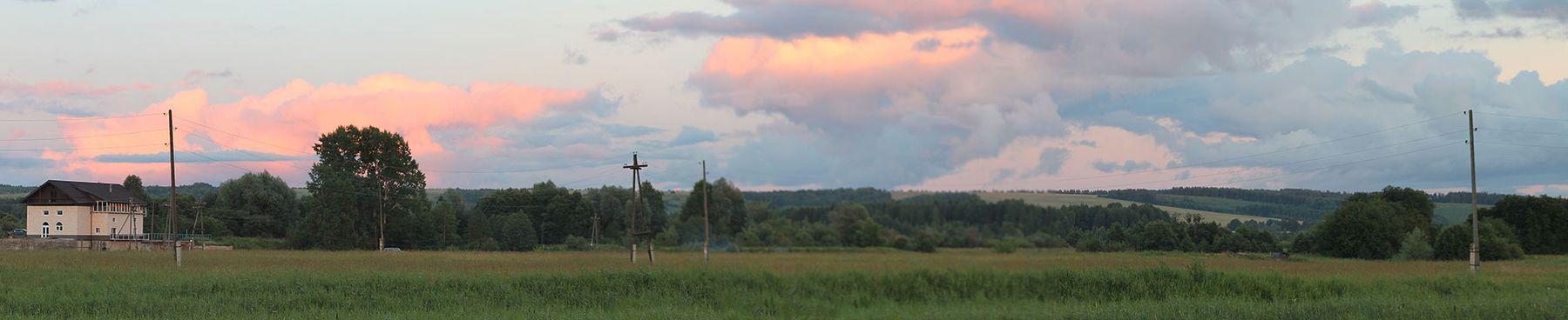 закат над вятскими увалами
