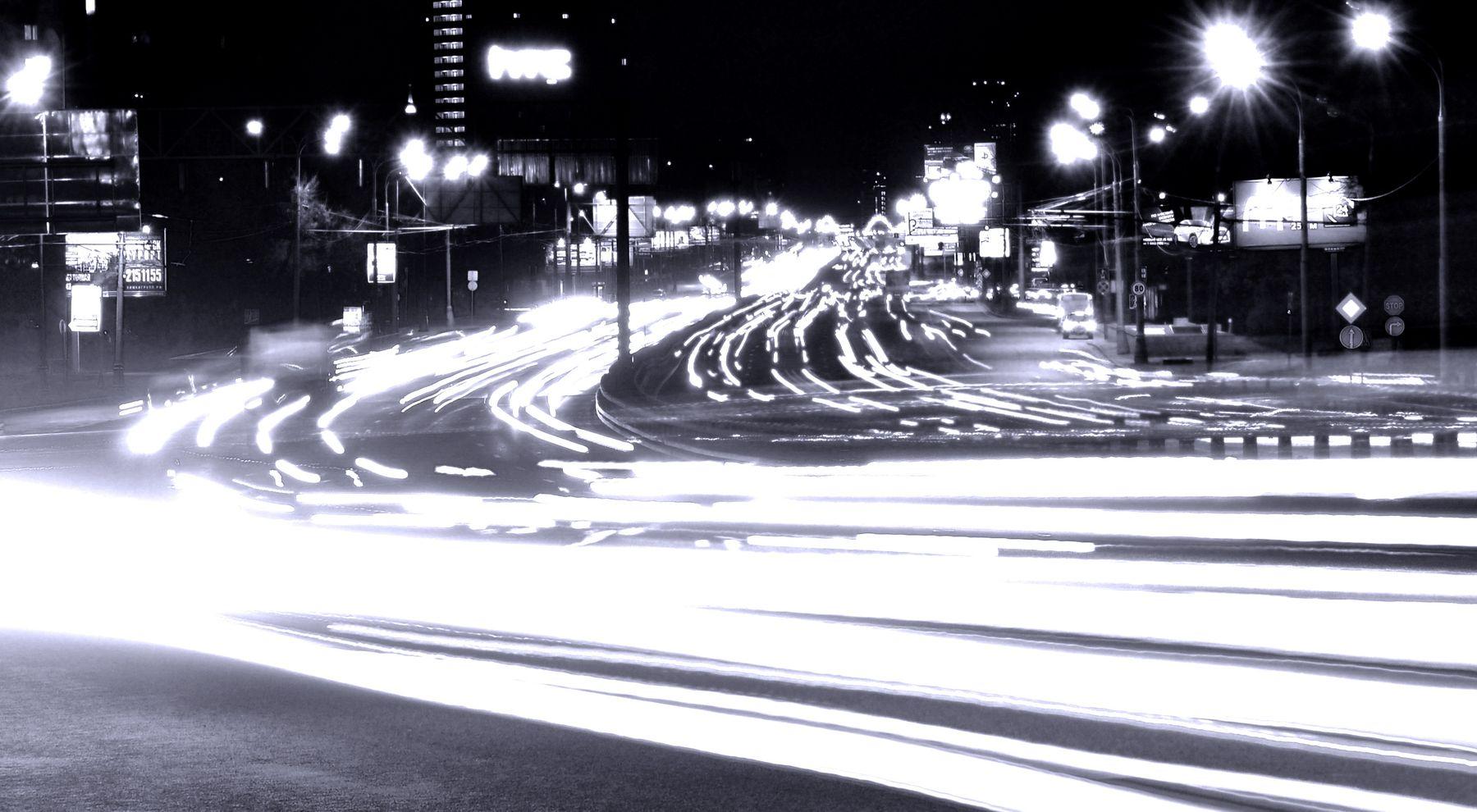 Трансполис город свет транспорт огни трасса