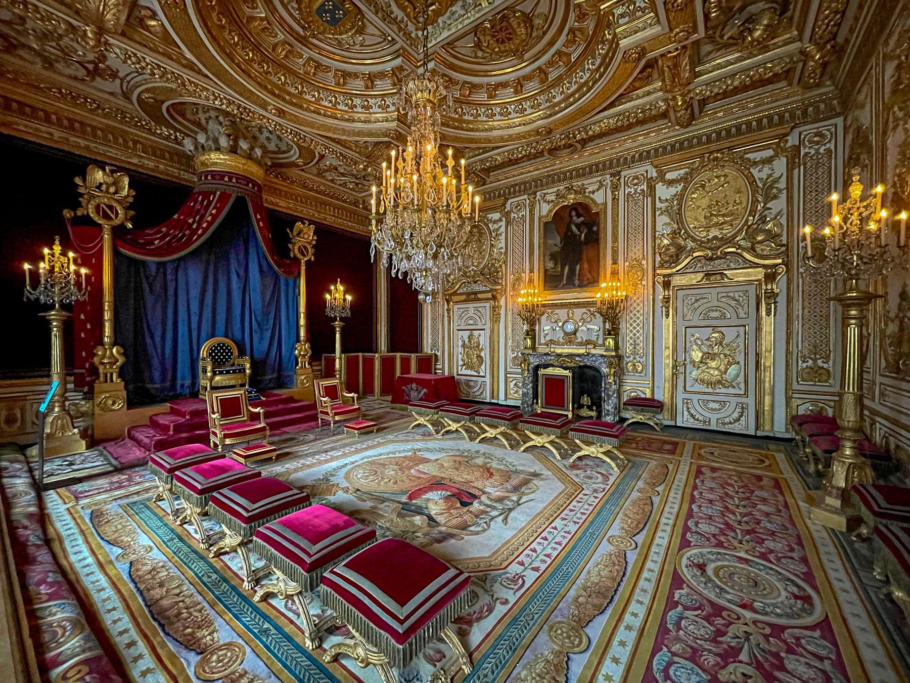 Тронный зал Наполеона в Фонтенбло Франция Фонтенбло тронный зал Наполеон