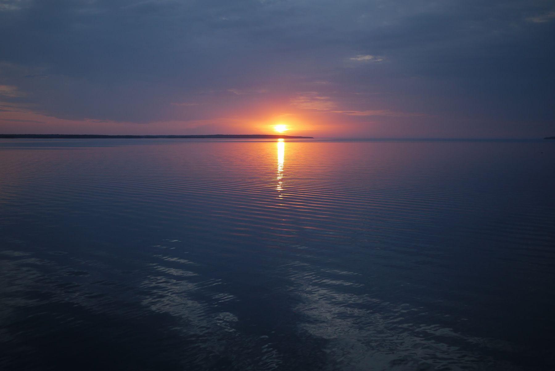 *** Закат небо море отражение облака горизонт заря природа вода