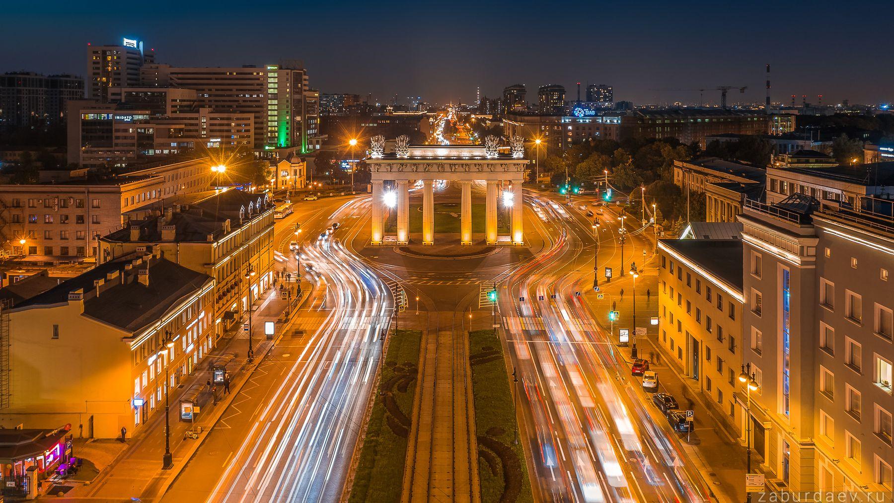 Московские ворота россия петербург вечер