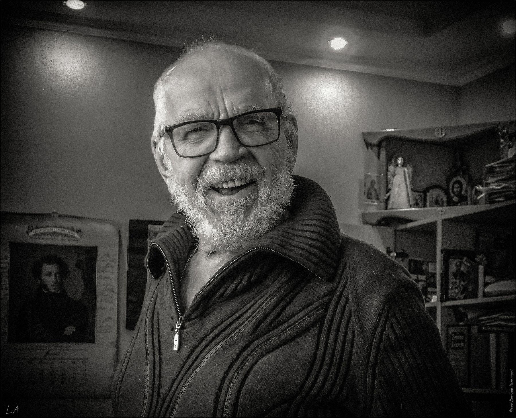 *Портрет 92-летнего писателя* фотография путешествие Дивноморское писатель жанр портрет Фото.Сайт Светлана Мамакина Lihgra Adventure Photo.Sight