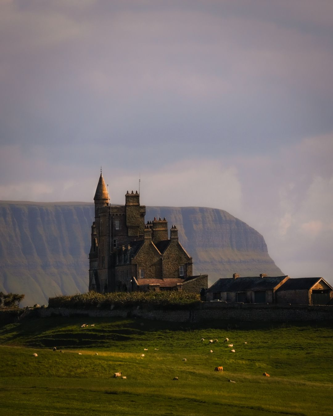 ...Classiebawn Castle... ireland castle classiebawn mullaghmore sligo wild atlantic way coast mountains nature architechture ancient old historical history building countryside rural sheep cow cattle grass fields meadows europe picturesque awe wonderful