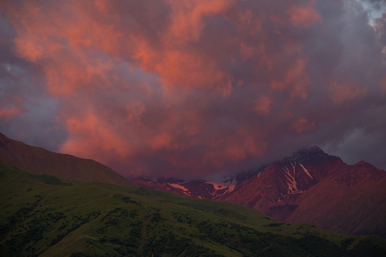 *** кавказ горы небо осетия пейзаж русский