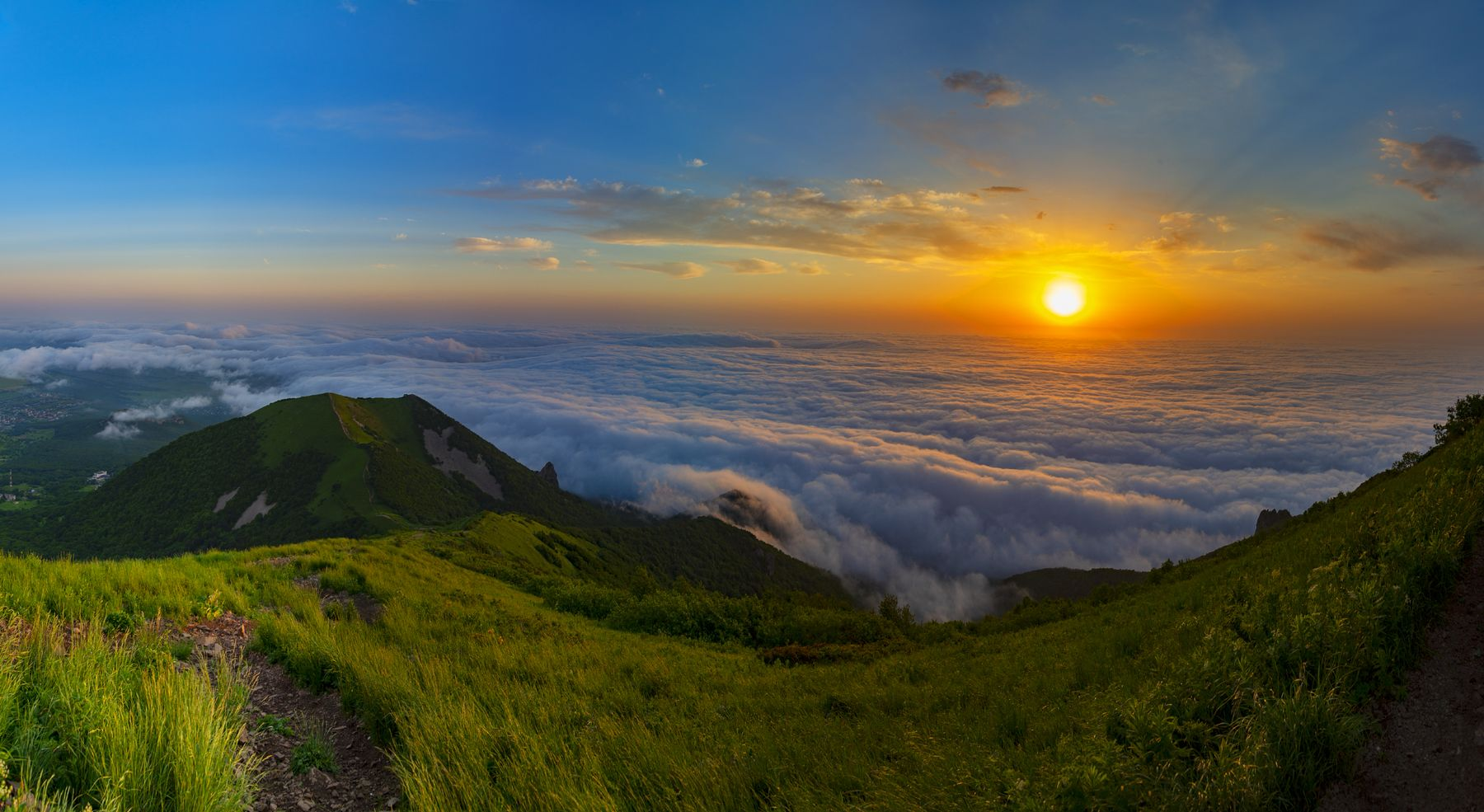 Дорога в облака облака бештау утро кмв природа пейзаж