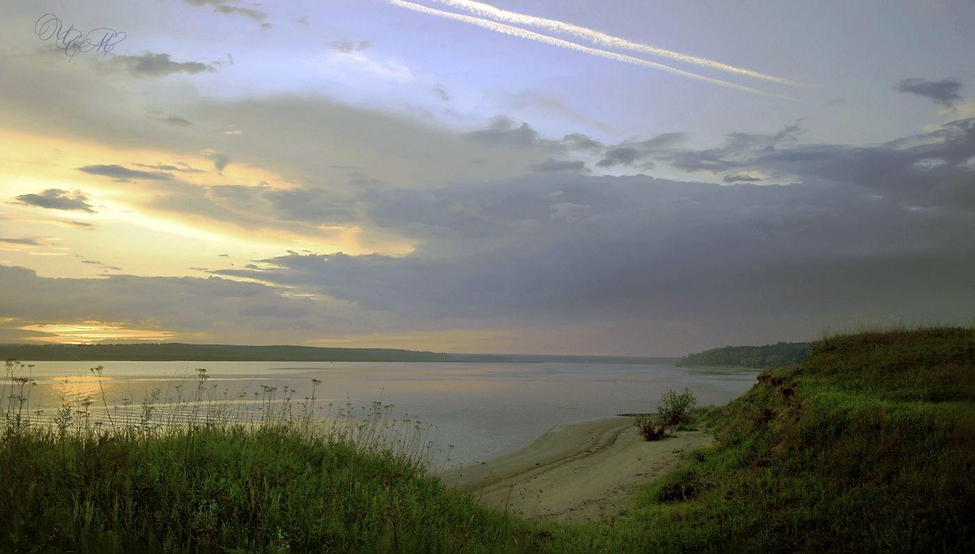 Тёплый вечер на Волге. Волга