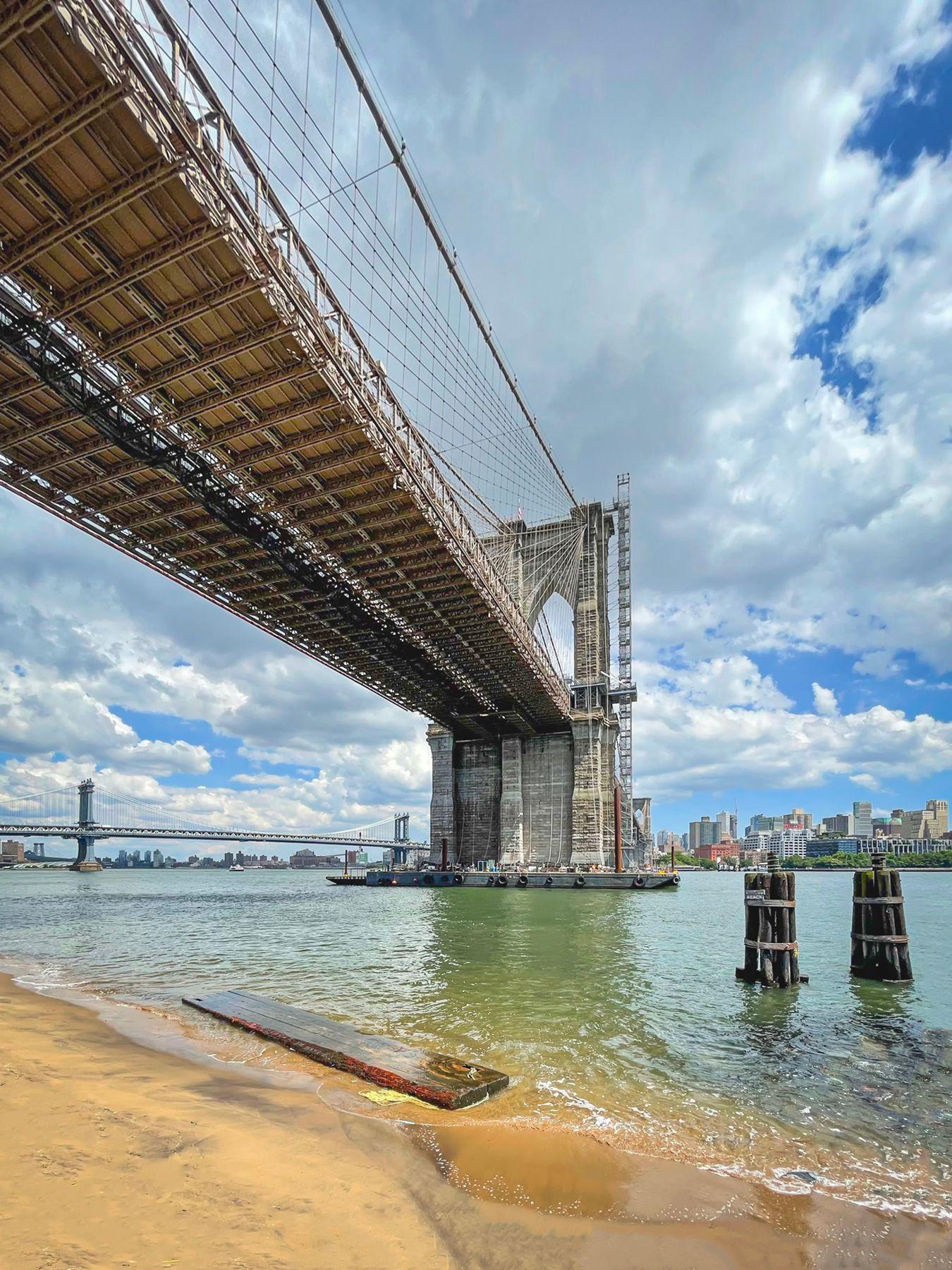 Мосты Нью-Йорка Манхэттен Нью-Йорк Бруклинский мост Манхэттенский Ист-ривер