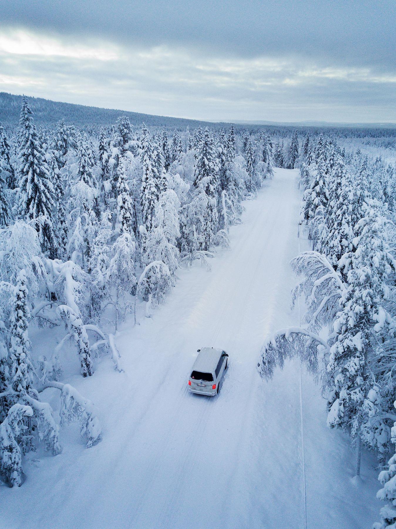 Там где зима. снег швеция drone