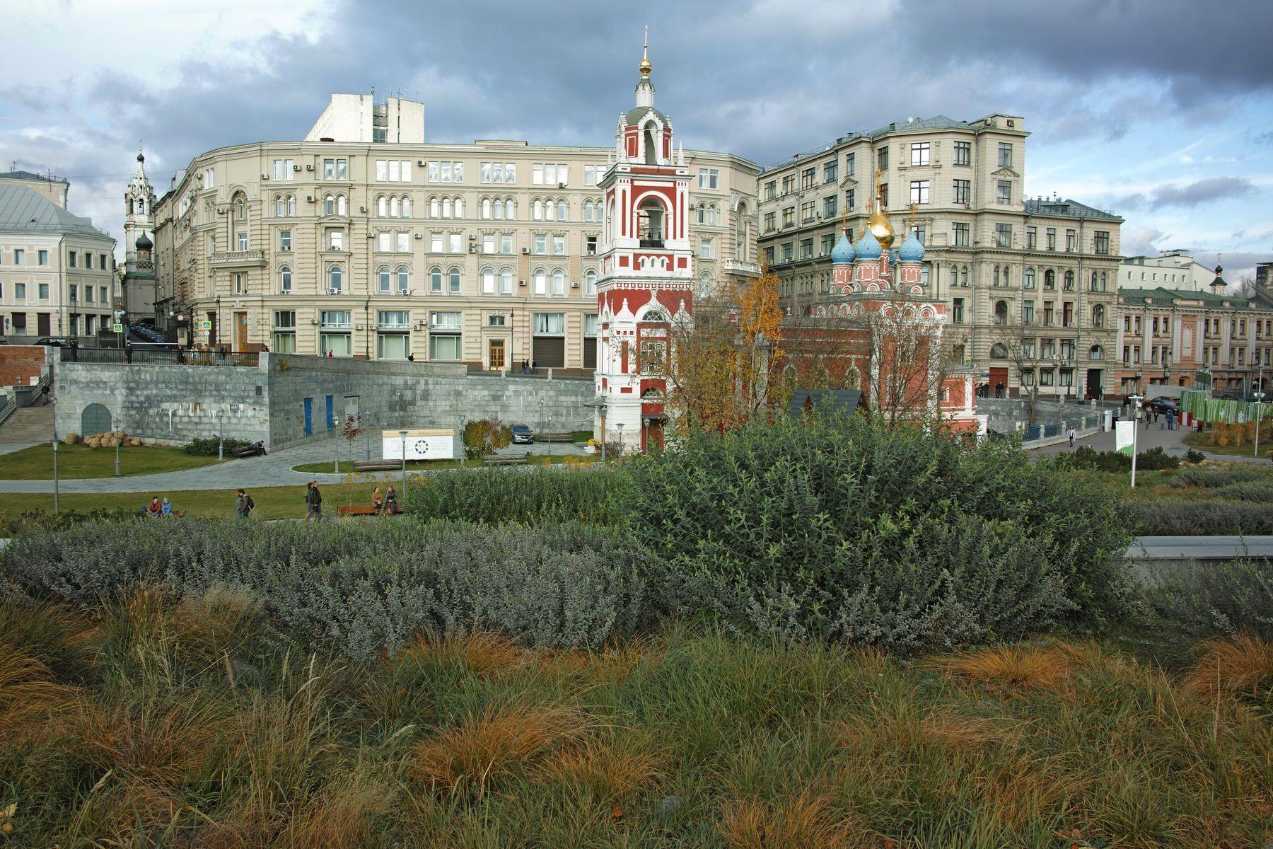 Зарядье город Москва улица Варварка парк Зарядье
