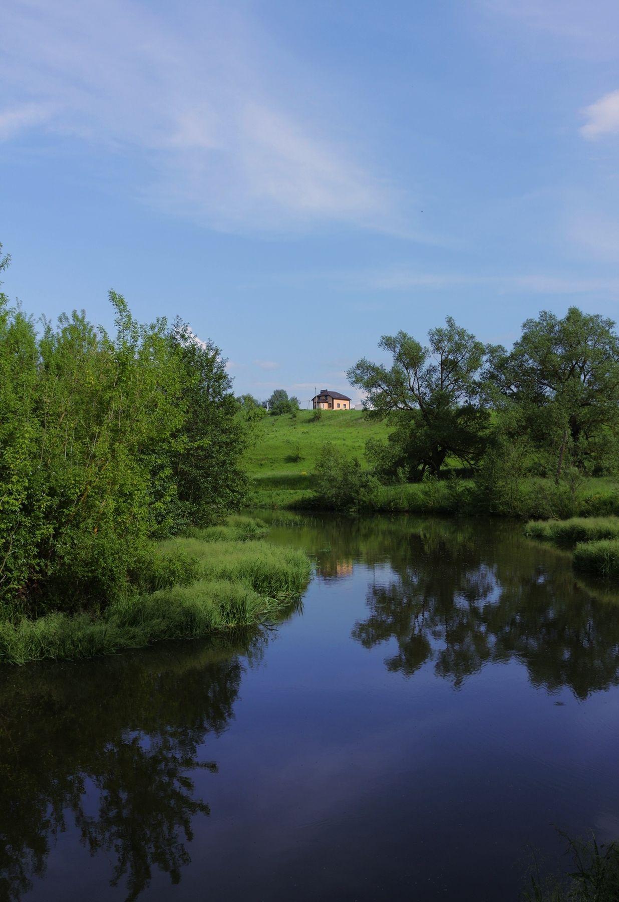 Домик в деревне Речка деревня природа домик небо