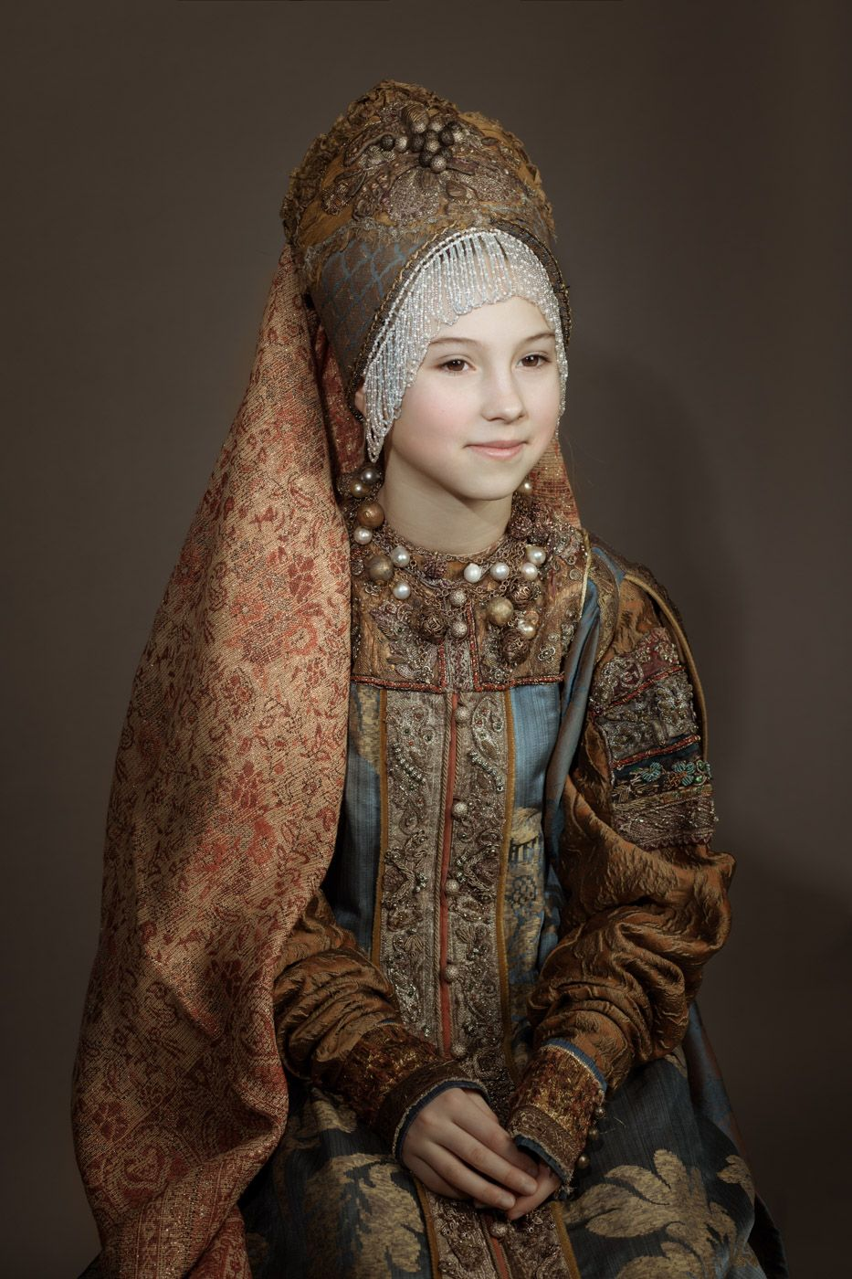 *** фотосъемка русский костюм этно история царевна боярышня модель портрет