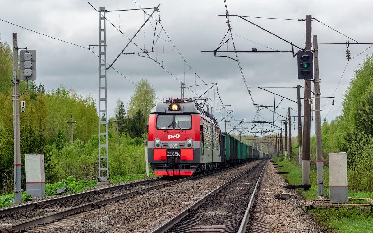 2ЭС5К-505 2ЭС5К-505 гжд горьк грк юма ацвеж перегон транссиб поезд транспорт электровоз