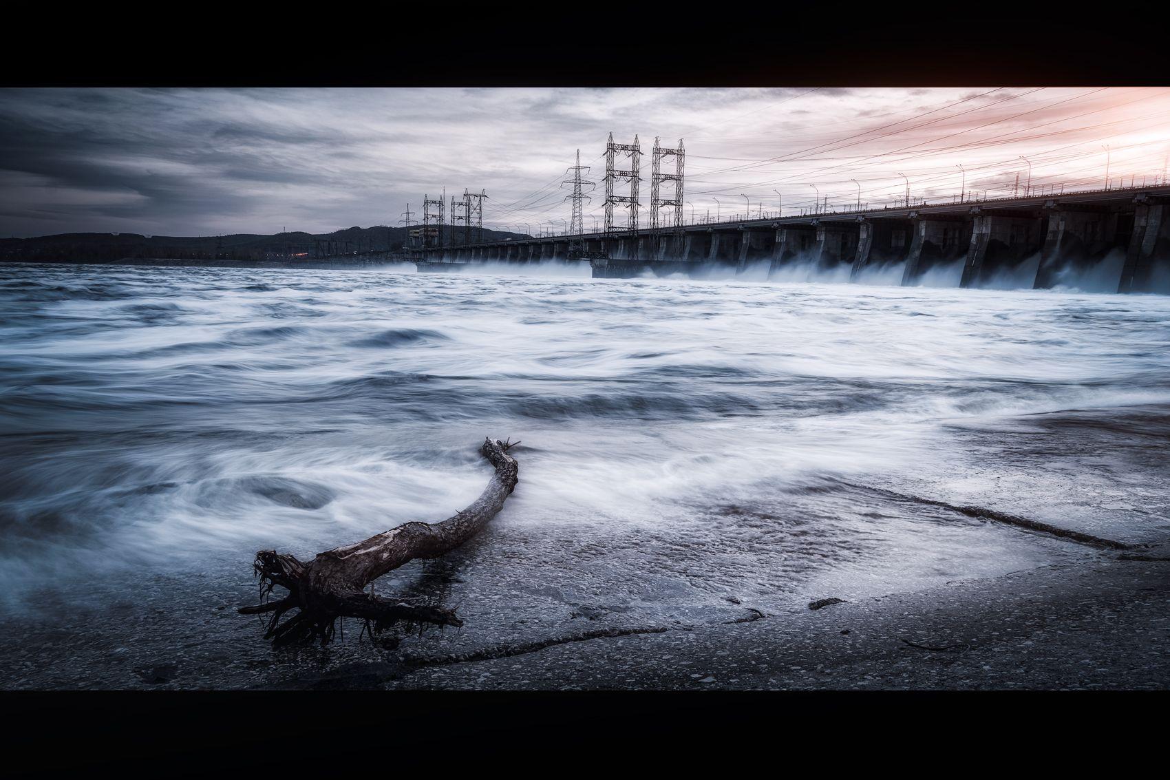 *** Пейзаж вода платина закат река жигулевск Тольятти