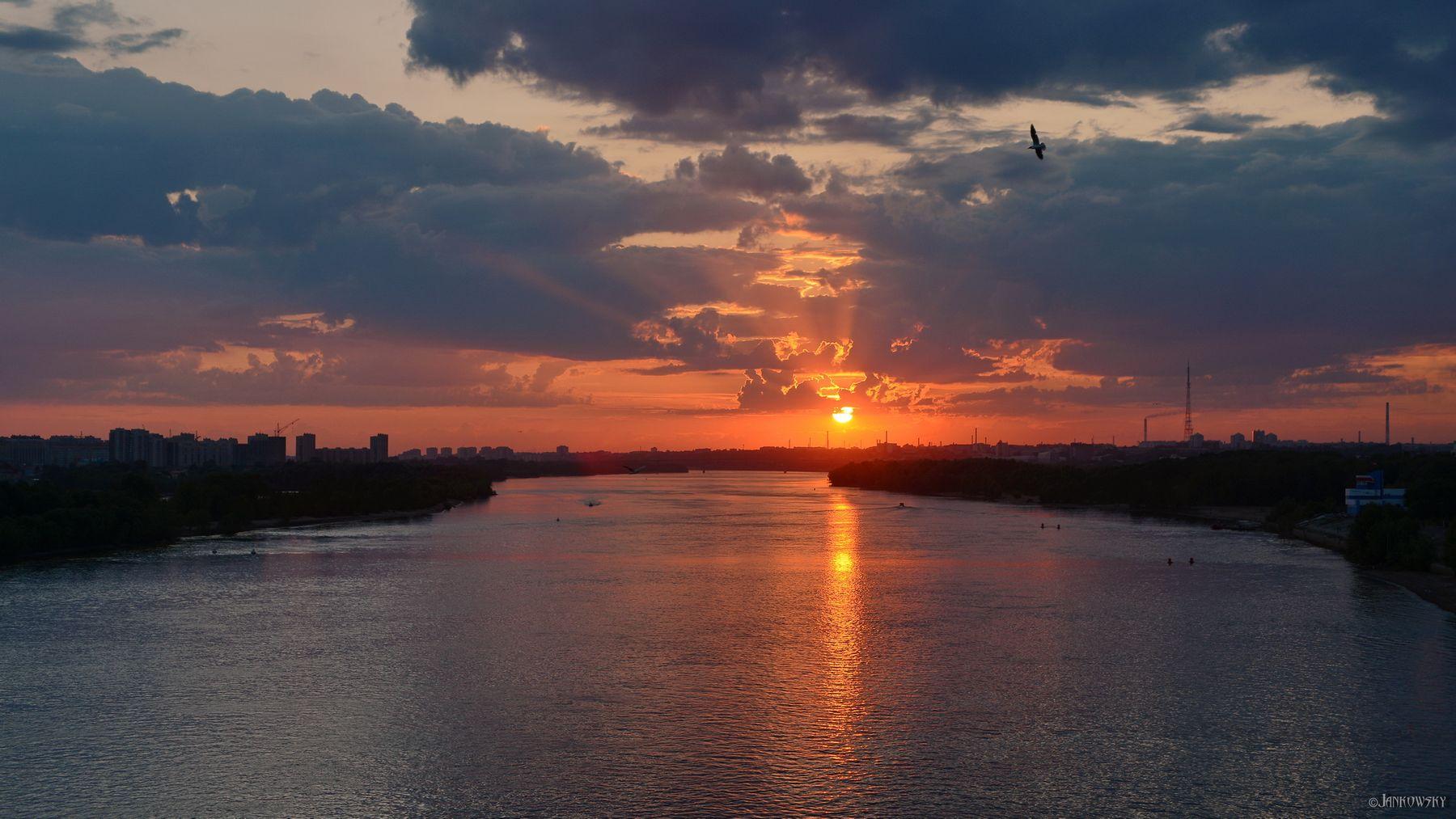 17.06.20 Омск закат омск иртыш отражение блики крест оранжевый tokina 28-80mm метромост