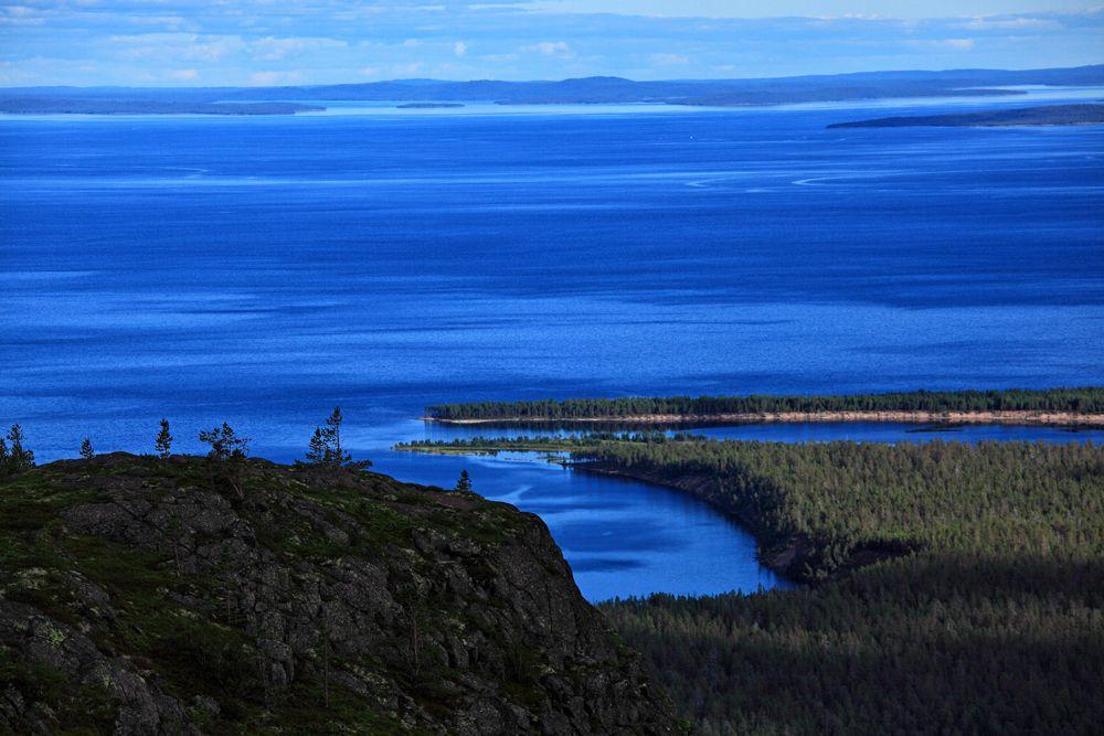 Вид с горы Кивакка на Пяозеро горы Кивакка Пяозеро Карелия