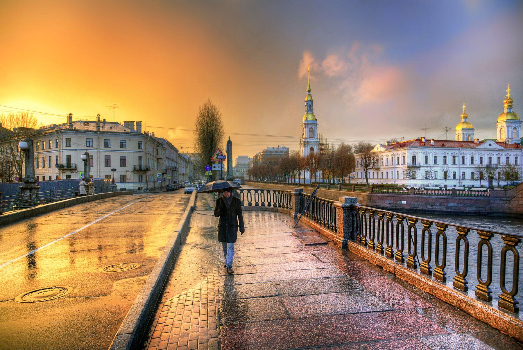 дождливый закат на Крюковом канале...